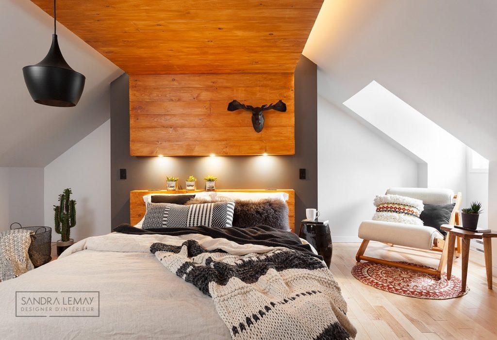 plafond design grenier plafond bas