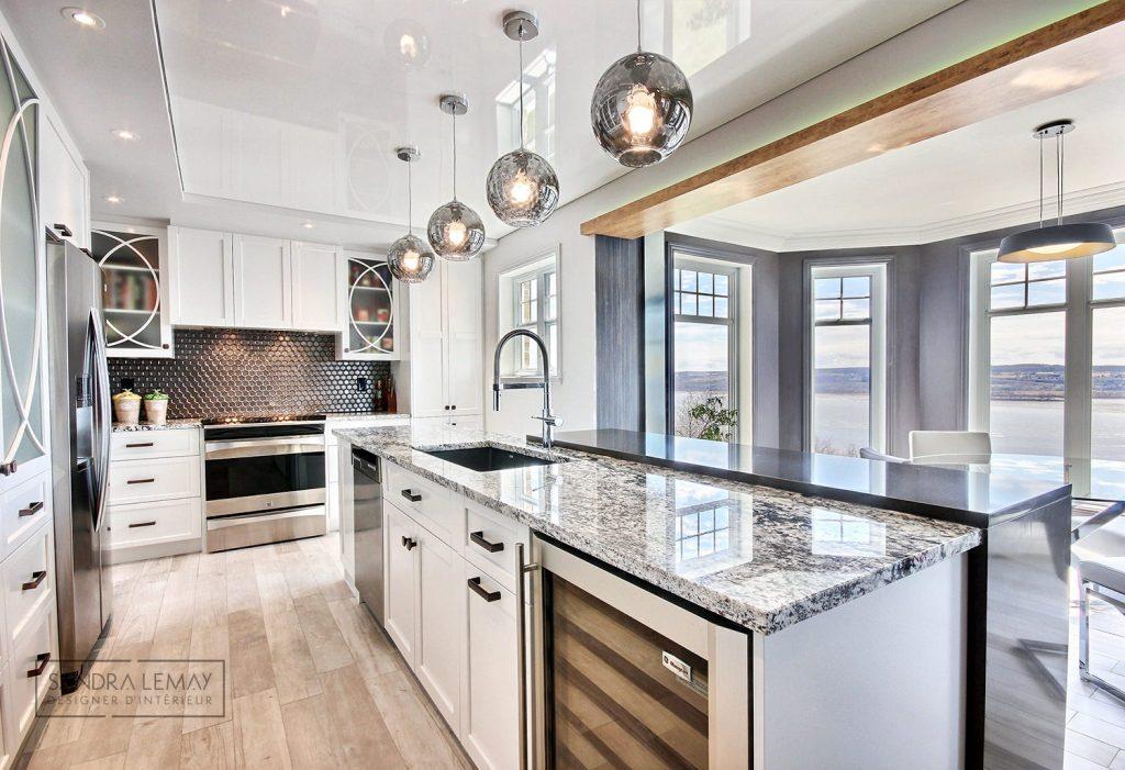 plafond design rénovation cuisine