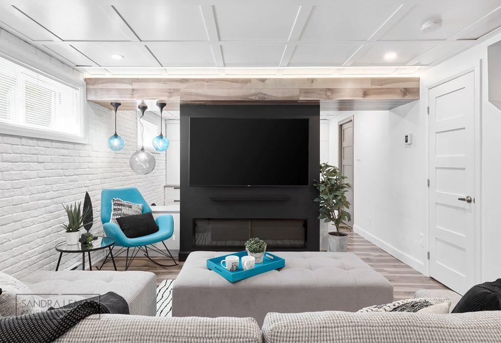 plafond design renovation sous sol